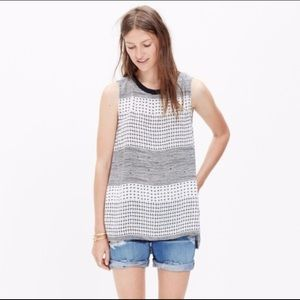 Madewell Refined Hashtag print tank
